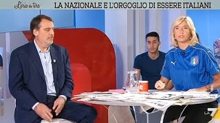 Myrta Merlino 'azzurra' intervista Marco Tardelli