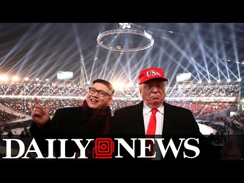 Trump and Kim Jong Un posers kicked out of Olympic ceremony