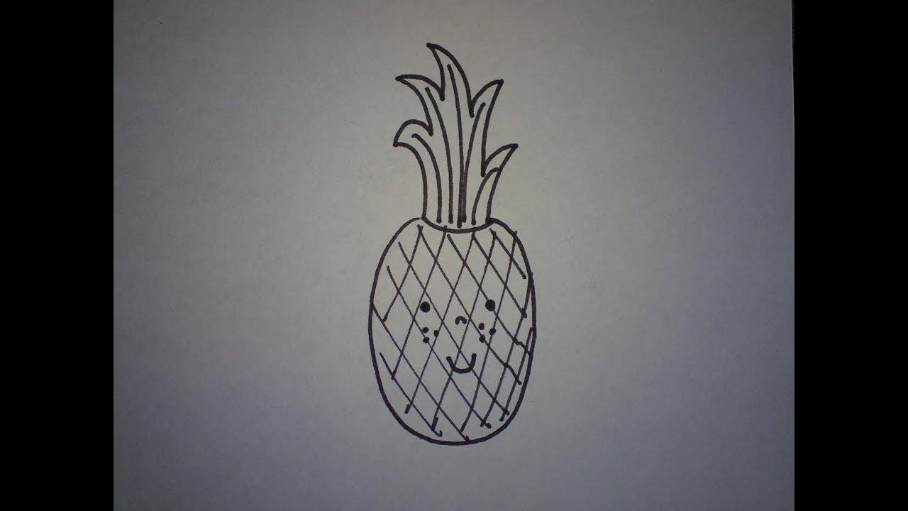 Hoe Teken Je Een Schattige Ananas Makkelijk How To Draw