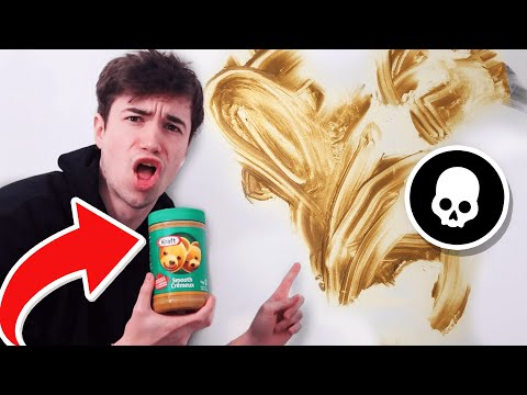 Every Death I put PEANUT BUTTER on my WALL in Fortnite...
