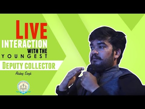 Live Interaction with Youngest Deputy Collector Akshay Singh a Kautilyan