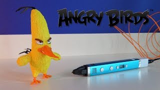 3D pen creation - Chuck - Angry Birds