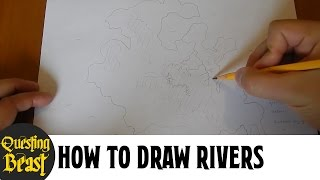 How to Draw Rivers: Fantasy Map Making Tutorial for D&D