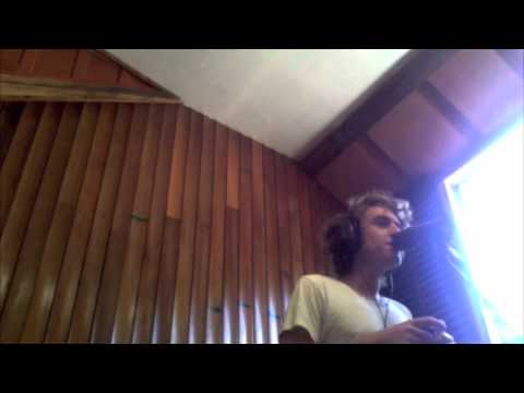 Matt Walters - In the studio recording Midnight Calling from Farewell Youth