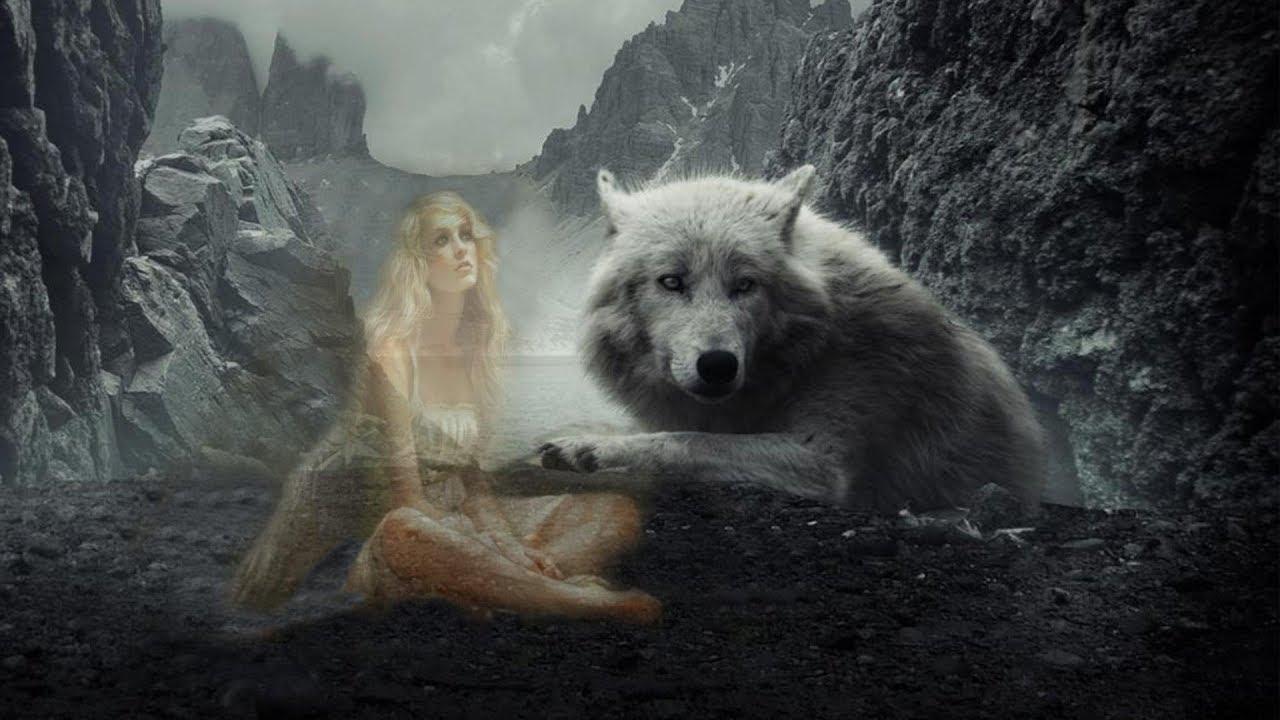 тест фото ангелы с волками красивые нижней