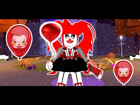 THE KILLER CLOWN IS STALKING MY DAUGHTER ROYALE HIGH ! (Royale High Short Halloween Movie)