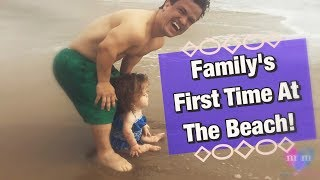 Family 1st Time at The Beach with Mini Mama plus Beach Essentials
