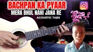 Bachpan Ka Pyaar(Jaan Meri Jaaneman) - Super Easy Guitar Tabs   Instagram Trending Song