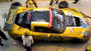 Corvette C6.R Pitstop in Le Mans 2009