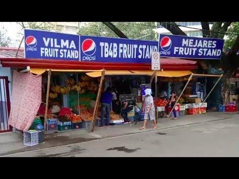 Philippines LIVE - Cebu City Street Walk Osmena Park Fuente Circle