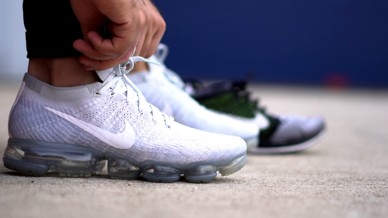 129253cc57a15 On The Foot EP.9 - Nike Air VaporMax Flyknit  Pure Platinum  - YouTube