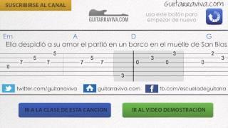 en el muelle de san blas guitarra acordes acompamiento guitarra mana base de practica