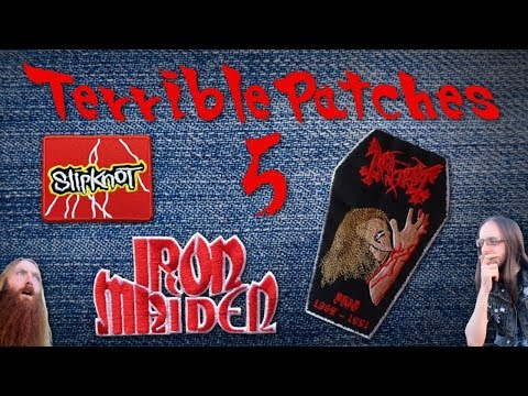 Terrible Band Patches 5 - Iron Maiden, Kreator & Th Wh