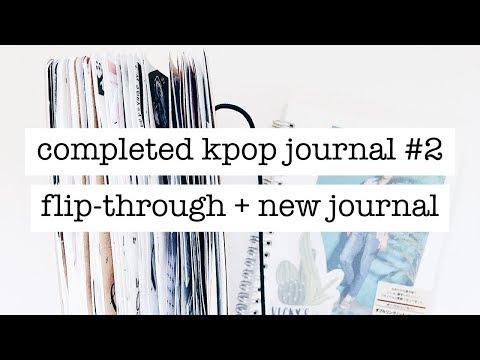 completed kpop journal #2 flip-through + new journal