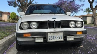 ПРОДАНО за $3600. Моя BMW 325i E30, 28 лет, 220 тысяч км — прощальное видео