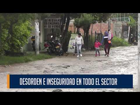 Desorden e inseguridad en sector comercial de los barrios que circunda el sector de Cantabria
