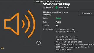 Roblox-Wonderful Day (Audio)