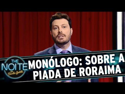 Danilo Gentili pede desculpas por piada sobre Roraima