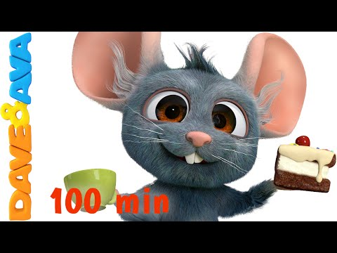 Hickory Dickory Dock | Nursery Rhymes Compilation | YouTube Nursery Rhymes from Dave and Ava