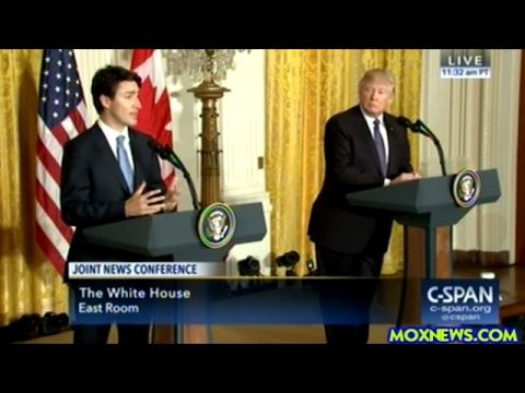 President Trump And PM Justin Trudeau Hold Joint Press Conference