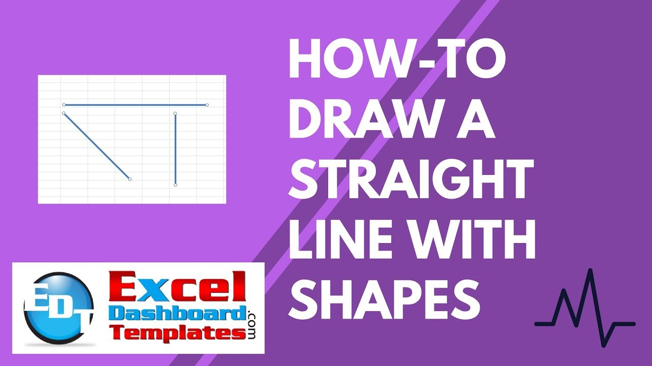Drawing Lines With Excel : How to draw a straight line with excel shapes youtube