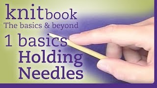 Knitbook: Holding Needles