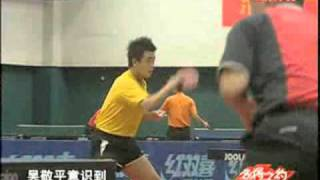 王皓 練球 正手 Wang Hao Training: Forehand Loop