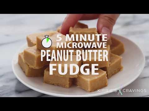 5 Minute Microwave Peanut Butter Fudge