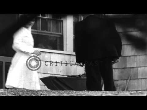 Scenes of 14 month old Charles A. Lindbergh, Jr., at his home in New Jersey 6 mon...HD Stock Footage