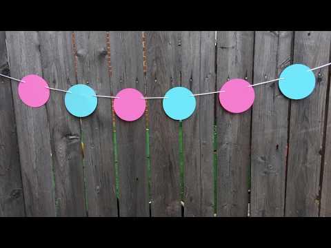 DIY CIRCLE GARLAND | DIY Circle Banner | Circle Paper Garland DIY | Circle Paper Banner DIY