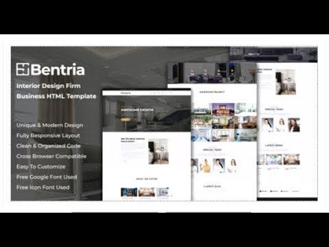 Bentria   Interior Design Firm Website HTML Template | Themeforest Templates