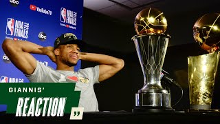 """Giannis' Reaction: """"I'm a FREAKING CHAMPION""""   7.20.21"""