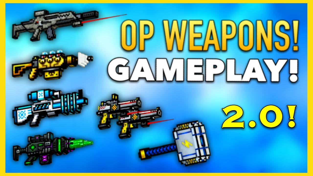 Pixel Gun 3D - OP Weapon Gameplay! (2016) - YouTube