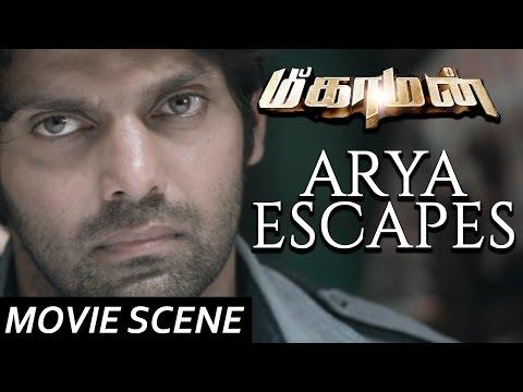 Arya Escapes - Meaghamann | Scene | Arya, Hansika Motwani | S.S.Thaman