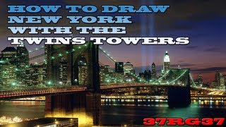 HOW TO DRAW NEW YORK. ( speed drawing )