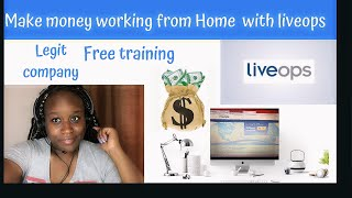 Making money from home  working for Liveops