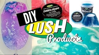 ♡ Diy Lush Products ♡ Bath Bomb, Shower Jelly, & Lip Scrub ♡