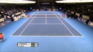 Tsvetana Pironkova vs Annika Beck - WTA Luxembourg Highlights 14-10-2013