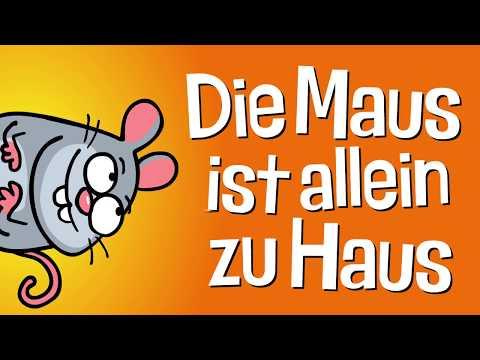 ♪ ♪ Kinderlied Maus - Die Maus ist allein zu Haus - Hurra Kinderlieder