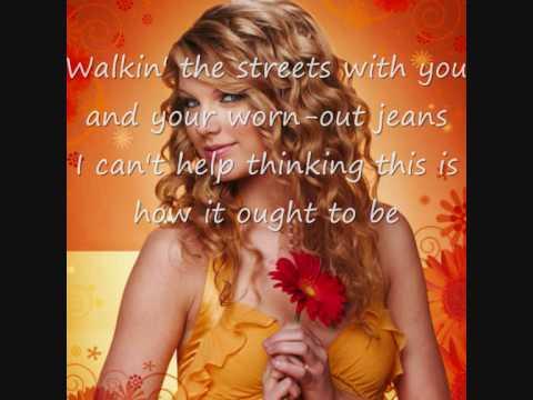 Taylor Swift-you Belong With Me Lyrics+download Links