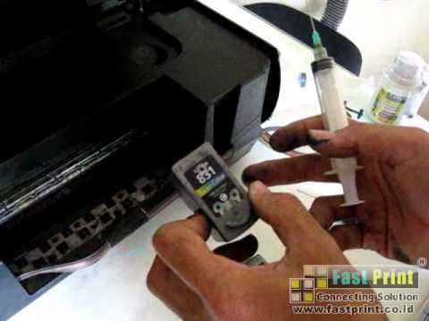 Tutorial Merefill Tinta Pada Cartridge Original Canon Type 831 Cmk 40 K Youtube
