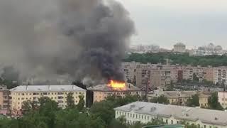 В Орле загорелся дом на Герцена