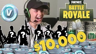 I SPENT $10,000 ON FORTNITE SKINS!