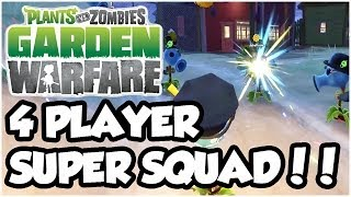 Plants vs. Zombies Garden Warfare - 4 PLAYER TEAM TERROR!! Gameplay Walkthrough (1080p HD)