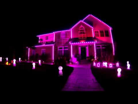 2013 Halloween Light Show - This is Halloween...