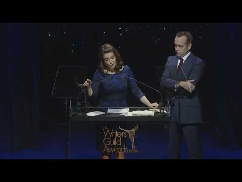 2018 Writers Guild Awards  Tina Fey & Robert Carlock with presented the Herb Sargent Award