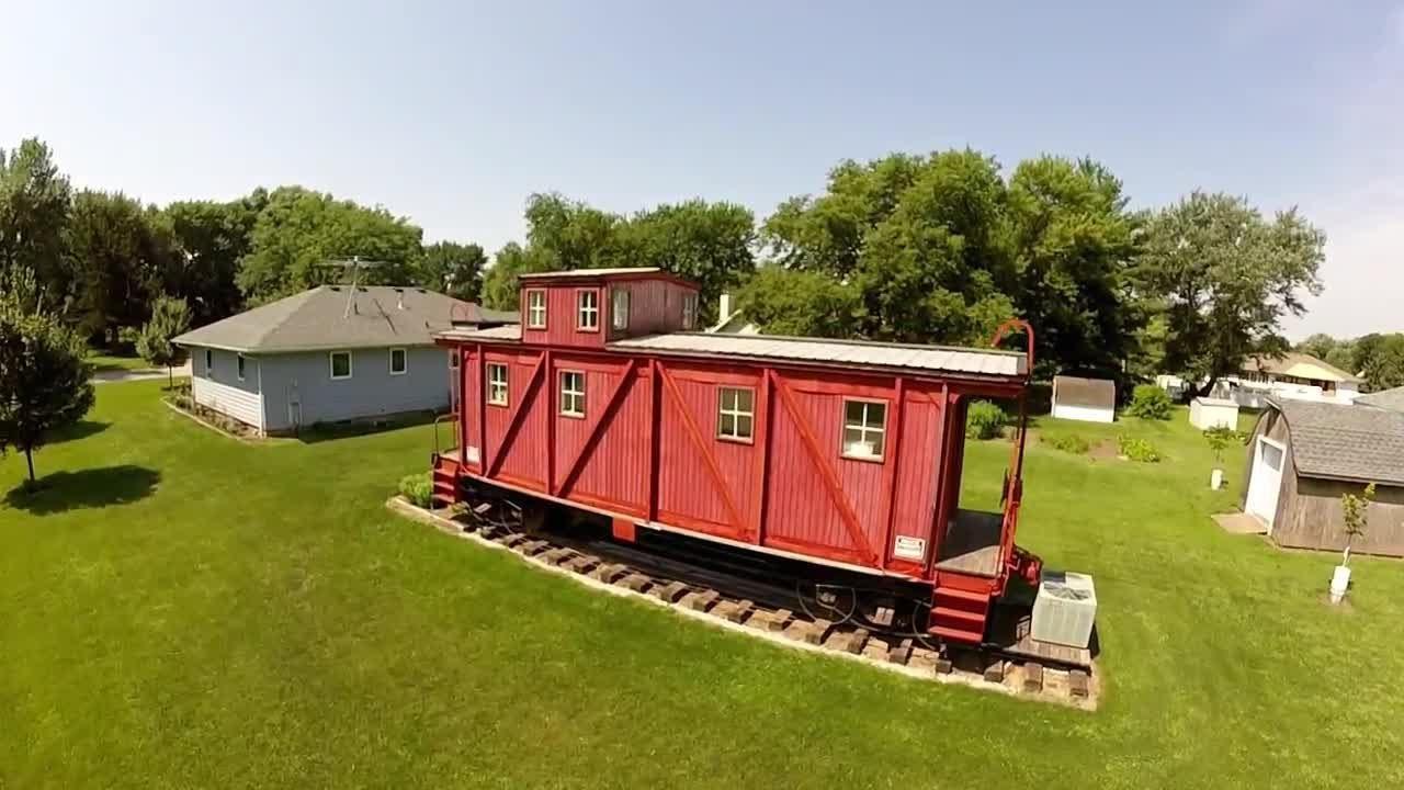 Backyard Love this is iowa: iowa man's love of trains includes backyard caboose
