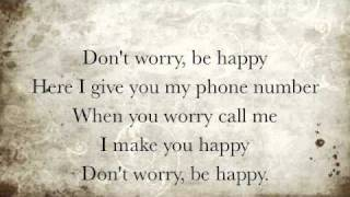 Download lagu Don t Worry Be Happy Lyrics MP3
