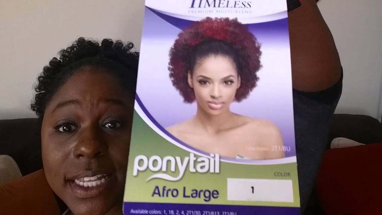 52 Wig Review Meet Outré Afro Large Ponytail You