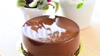 Зеркальная глазурь из какао ☆ Mirror Glaze cocoa